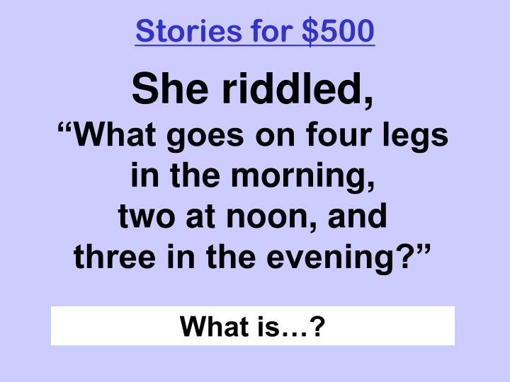 Stories for $500