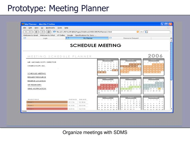 Prototype: Meeting Planner