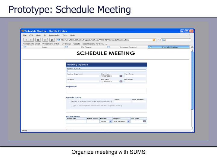 Prototype: Schedule Meeting