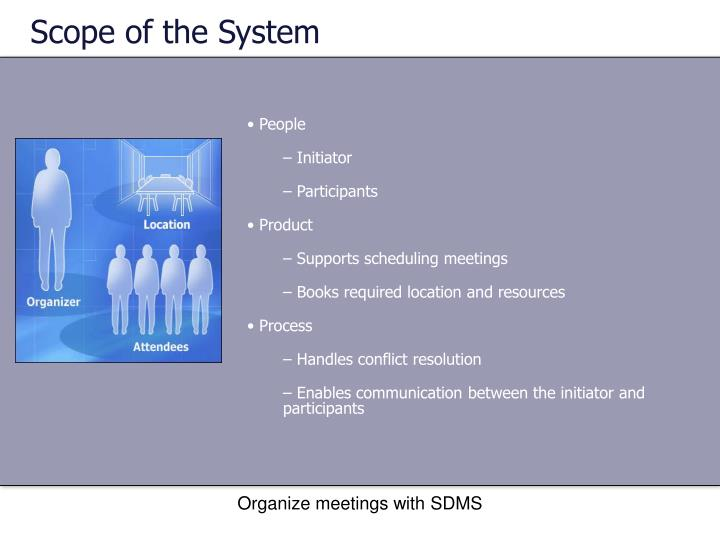 Scope of the System