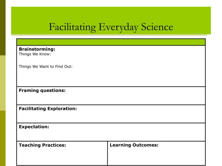 Facilitating Everyday Science