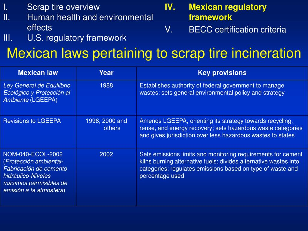 PPT - Scrap Tire Disposal and Recycling Options PowerPoint