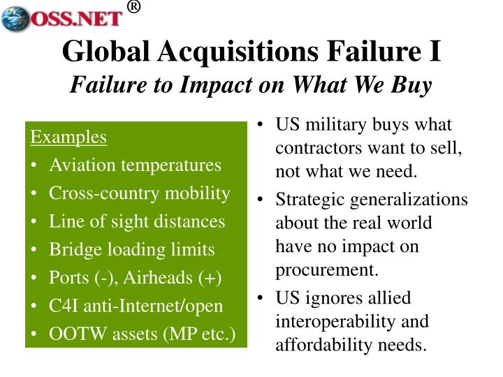 US military buys what contractors want to sell, not what we need.