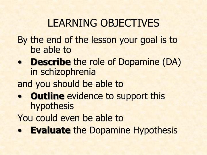 dopamine hypothesis