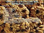 oatmeal chocolate no bake cookies