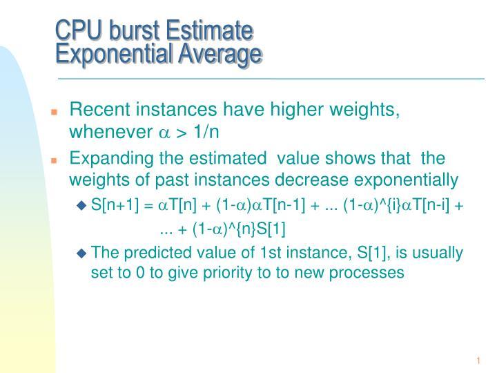 CPU burst Estimate