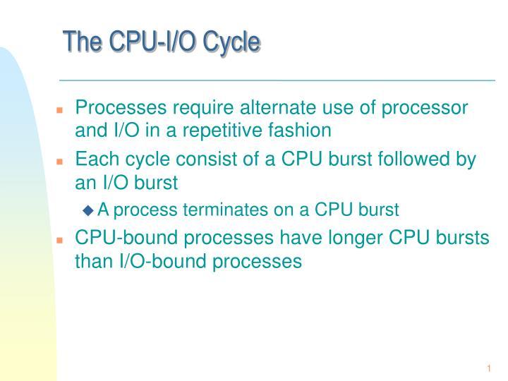The CPU-I/O Cycle