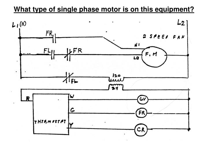 What type of single phase motor is on this equipment?