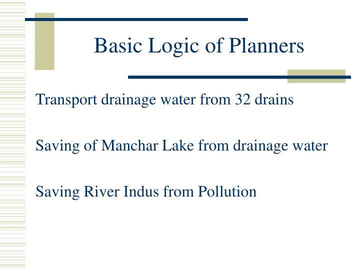 Basic Logic of Planners