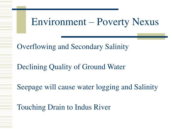 Environment – Poverty Nexus