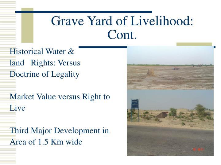 Grave Yard of Livelihood: Cont.