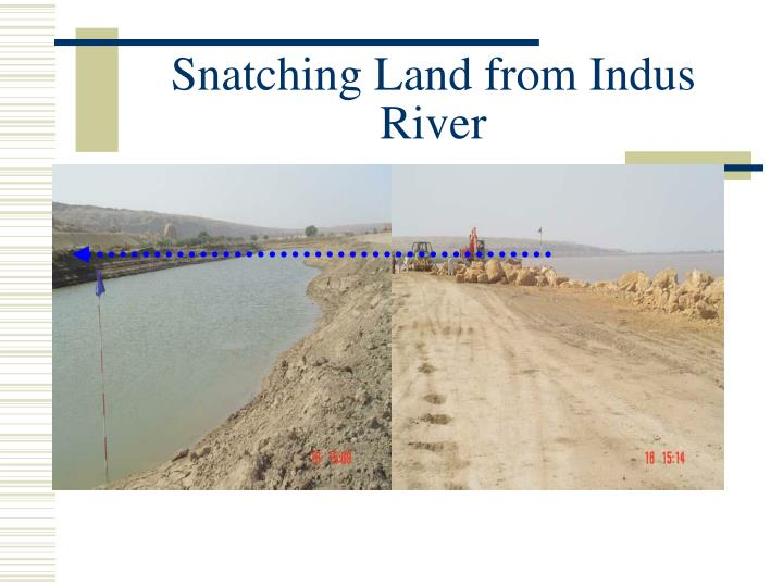 Snatching Land from Indus River