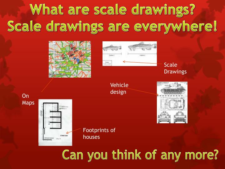 What are scale drawings?