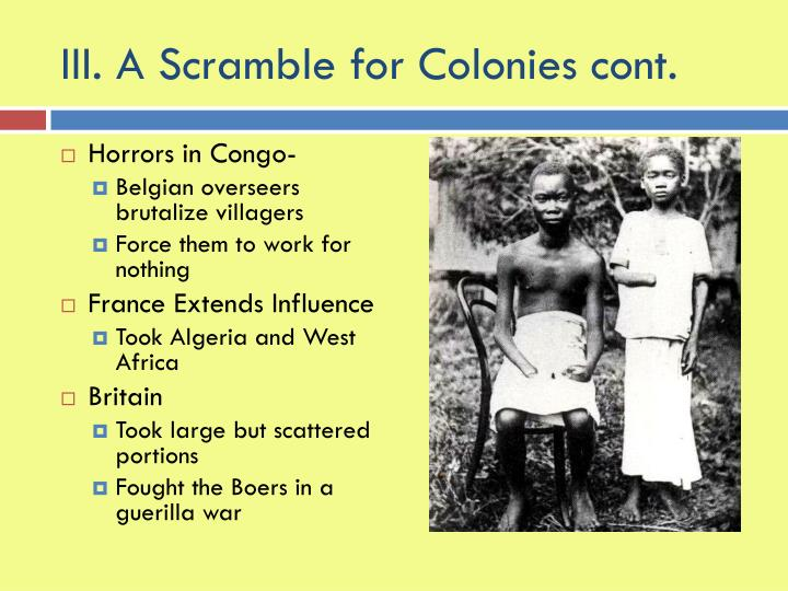 the horrors of the european colonization of africa The impact of european colonialism in africa   the systematic colonization of africa,  the horrors of slave trade undoubtedly brought violence,.