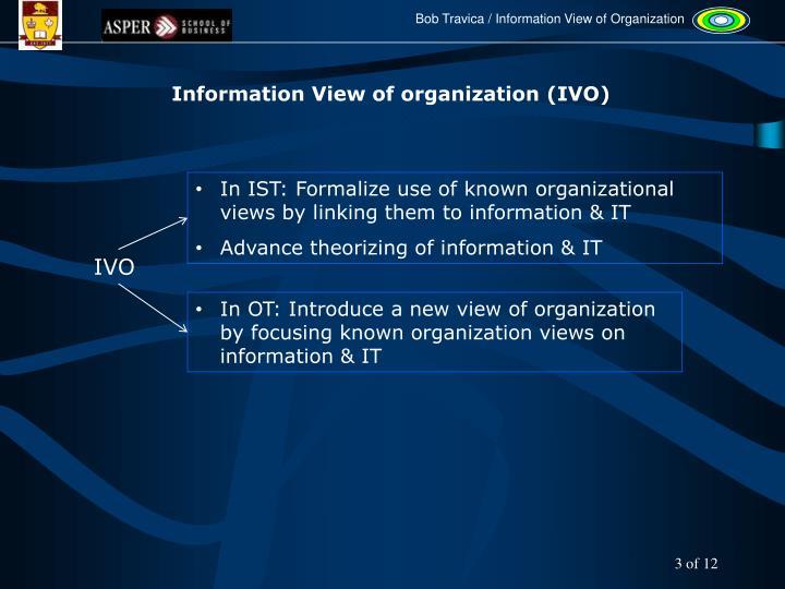 Information View of organization (IVO)