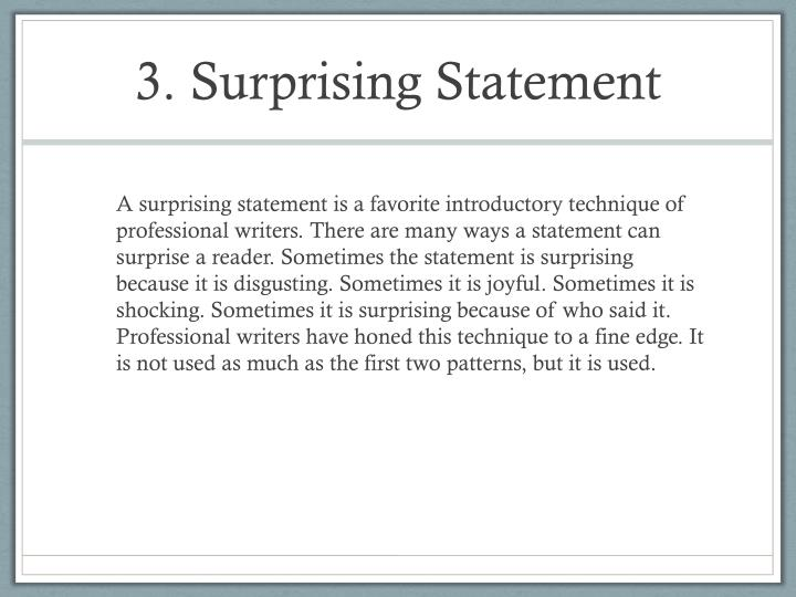 3. Surprising Statement