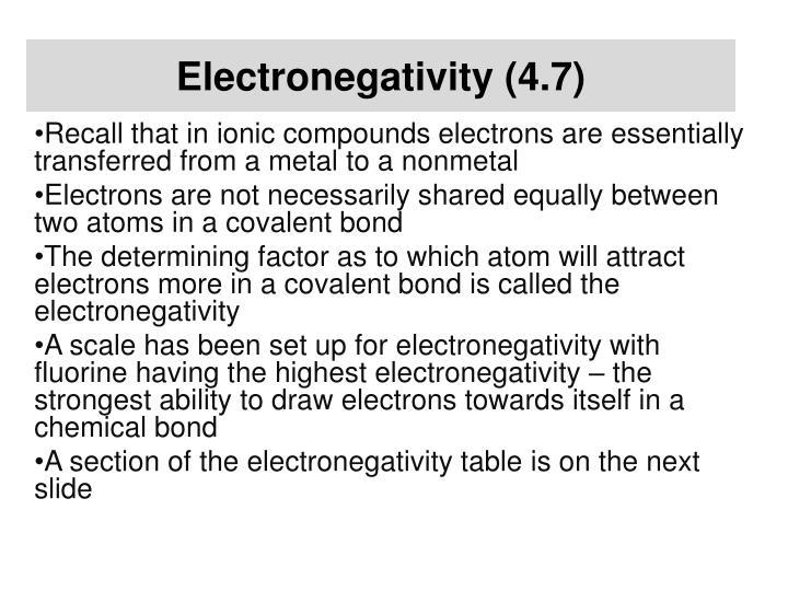 Electronegativity (4.7)