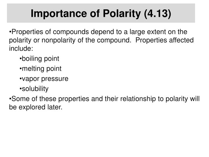 Importance of Polarity (4.13)