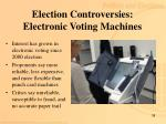 election controversies electronic voting machines