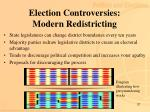 election controversies modern redistricting