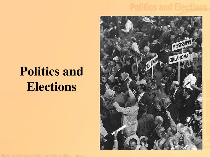 politics and elections n.