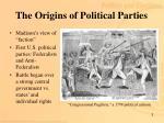 the origins of political parties