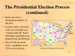 the presidential election process continued