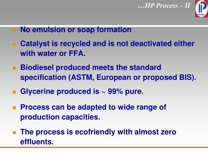 …IIP Process – II