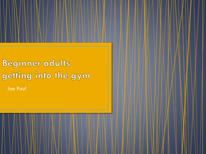 Beginner adults getting into the gym