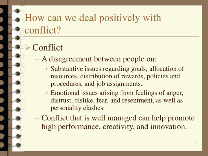 deal with conflict situation assignment