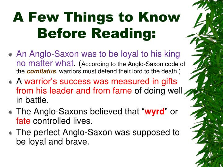 warrior code of anglo saxon