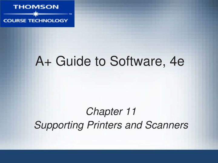 a guide to software 4e n.