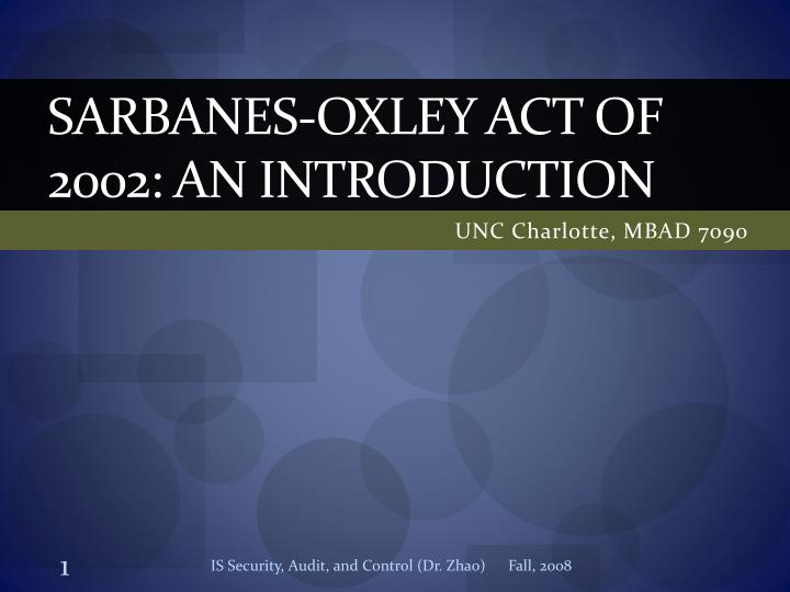 corporate scandals and the sarbanes oxley act Since the passage of the public company accounting reform and investor protection act of 2002 (the sarbanes-oxley act), small and mid-sized public companies have struggled to comply with its.