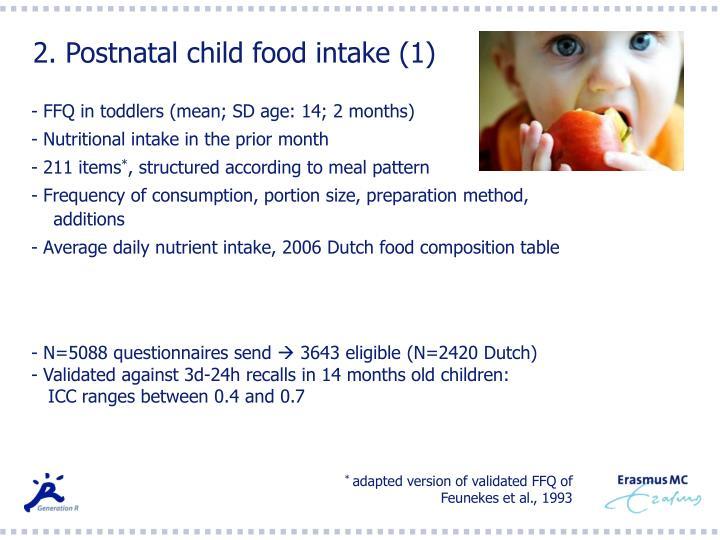 2. Postnatal child food intake (1)