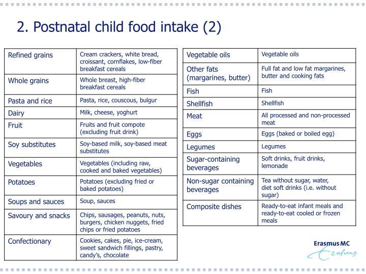 2. Postnatal child food intake (2)