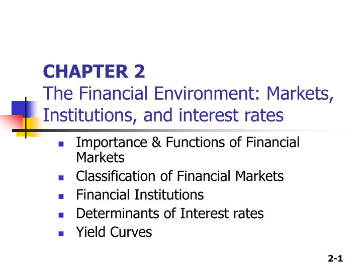 importance of financial institution