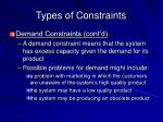 types of constraints2