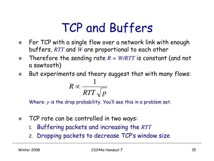 TCP and Buffers