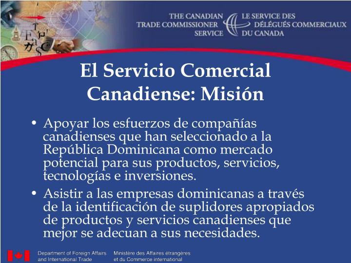El servicio comercial canadiense misi n