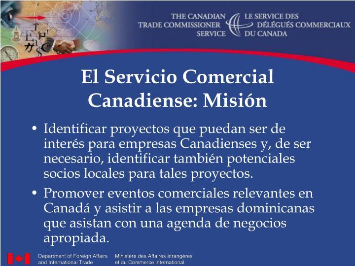 El servicio comercial canadiense misi n1