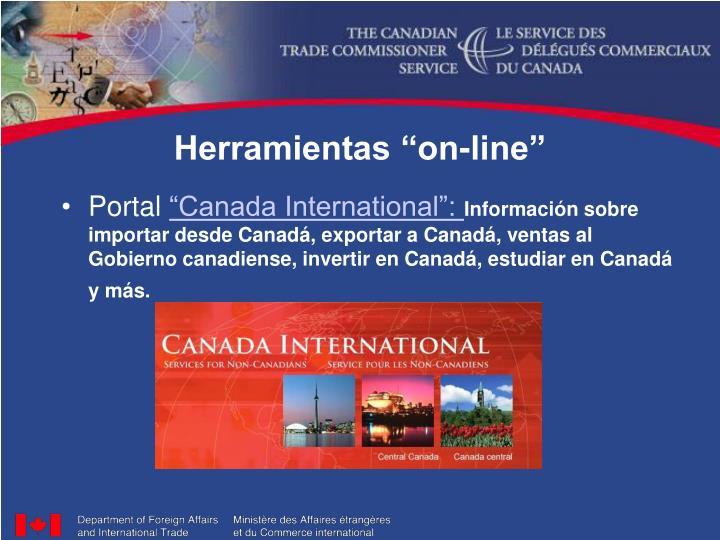 "Herramientas ""on-line"""