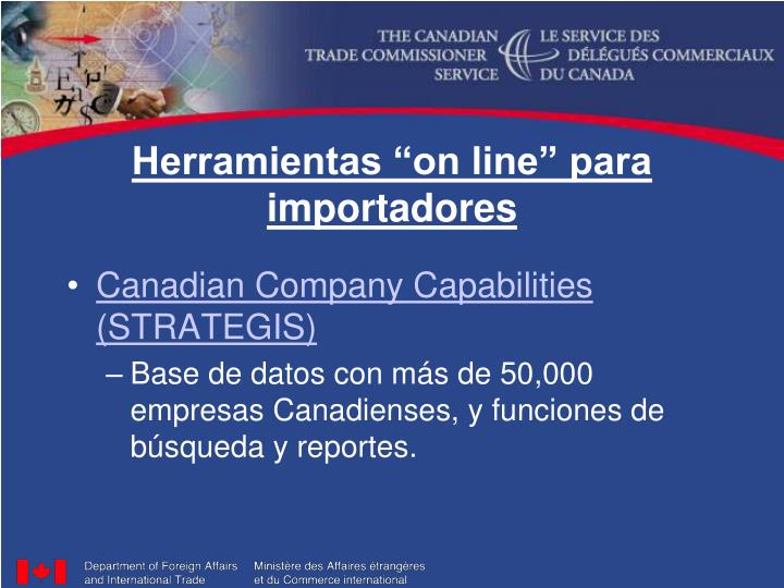 """Herramientas """"on line"""" para importadores"""