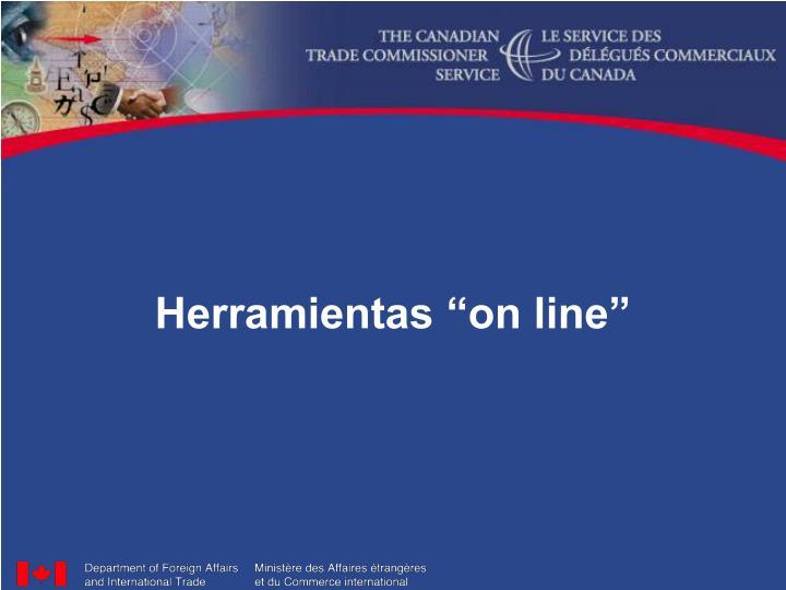 "Herramientas ""on line"""