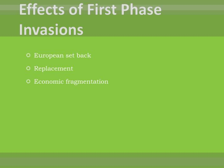 Effects of First Phase Invasions