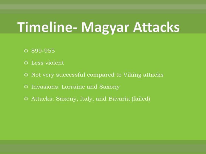Timeline- Magyar Attacks