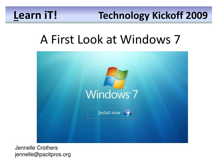 a first look at windows 7 n.