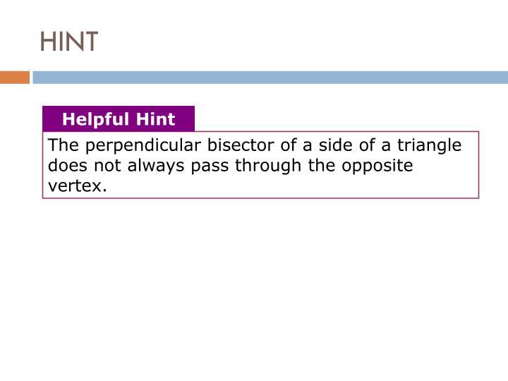 Helpful Hint