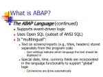 what is abap1