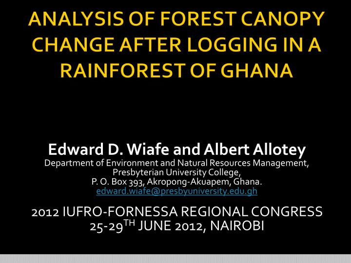 an analysis of forest The amazon and elsewhere due to last week's high court ruling upholding the constitutionality of much of the 2012 new forest code most environmentalists expect.