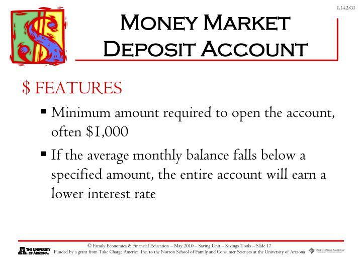 Money Market Deposit Account